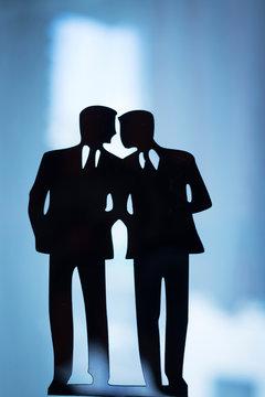 Gay LGBT wedding couple