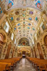 Stunning interior view of Santo Domingo Church in Oaxaca, Mexico