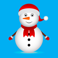 Christmas Snowman on blue background Christmas Characters