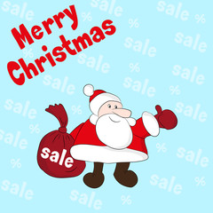 Christmas Sale. Vector illustration.
