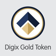 Digix Gold Token - Digital Coin Vector Icon