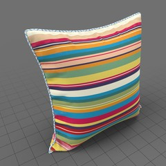 Upright piped edge pillow