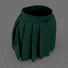 Female pleated mini skirt