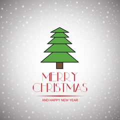 merry christmas And Happy New Year Vector,illustration.