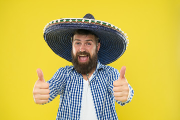 Male barber care. sombrero. mexican man. mexico. Mature hipster with beard. Bearded man. brutal caucasian hipster with moustache. Fashion man with beard. happy mecican. success