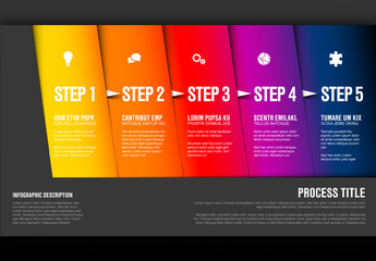 Colorful Gradient Five Step Infographic