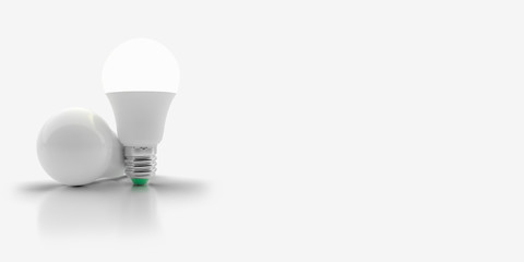 LED light bulb on an isolated background