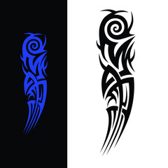 tribal tattoo vector art design, pattern abstract element vintage on white background