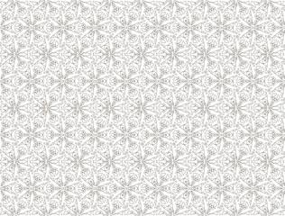 black and white linear futuristic floral ornament