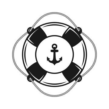 Lifebuoy vector object on white background