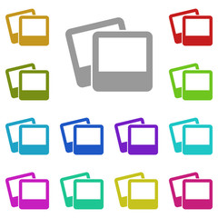 photo icon in multi color. Simple glyph vector of web set for UI and UX, website or mobile application