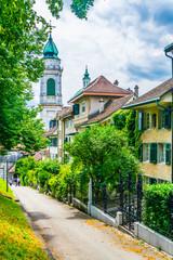 Poster Nouvelle Zélande Basel tor and Saint Ursen cathedral in Solothurn, Switzerland