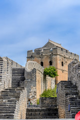 Watch Towers and Gun Emplacements on The Great Wall of China at Jinshanling