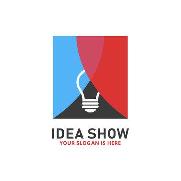 Idea show bulb lamp stage curtain logo