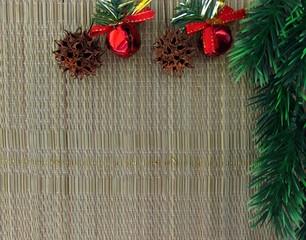 Christmas season theme. Christmas holiday composition top view. Christmas background.