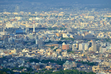 京都 大文字山からの眺め