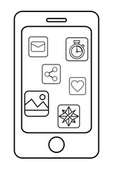 technology smartphone cartoon