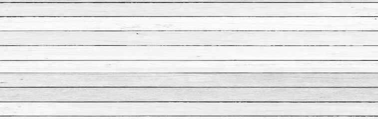 Panorama, Vintage white color wood wall detail as background or texture, Natural pattern. Blank copy space.