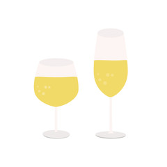 champagne icon in flat style isolated vector illustration on white transparent background