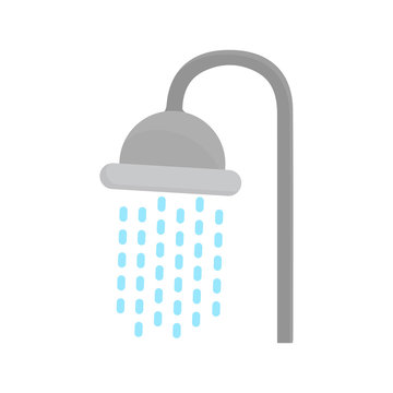 shower head icon in flat style isolated vector illustration on white transparent background