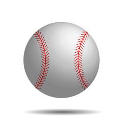 Abstract baseball vector image with 3d baseball ball.