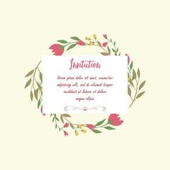 Wedding, Anniversary, Born, Greetings Template Card, Shabby Chic, Vintage, Feminine, Retro, Modern, Floral, Vector Design