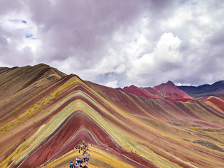 Poster Views from the peak of the Vinicunca mountain (Rainbow mountain)