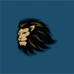 Angry Roaring Lion Head Vector Logo Design, Illustration, Template