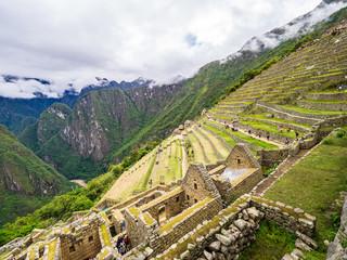 Constructions in the Machu Picchu citadel