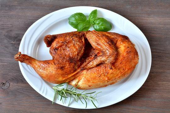połowa kurczaka z rożna