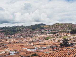 View of the Cusco city from the San Blas neighborhood