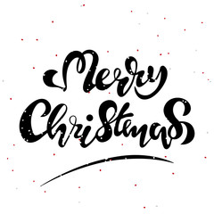 Merry Christmas vector text Calligraphic Lettering design card template. Creative typography for Holiday Greeting Gift Poster. Calligraphy Font style Banner. EPS10