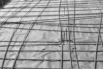 the rebar in the Foundation