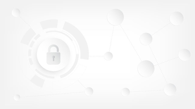 Abstract cyber security and information protection background.