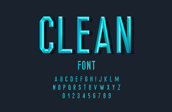 Stylish font with faces for printing, banners, postcards. Vector Illustration