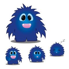 Kleines blaues Monster