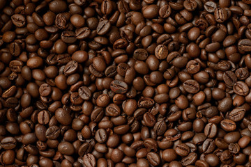 roasted coffee beans, coffee texture