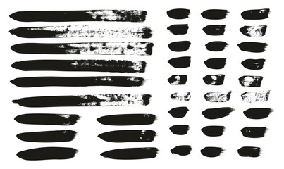 Calligraphy Paint Brush Lines Mix High Detail Abstract Vector Background Set 144