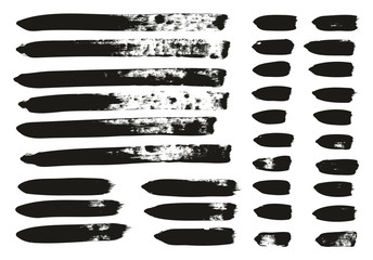 Calligraphy Paint Brush Lines Mix High Detail Abstract Vector Background Set 141