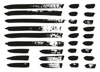 Calligraphy Paint Brush Lines Mix High Detail Abstract Vector Background Set 134