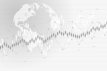 Stock market data.Abstract background with graph chart finance. Stock market and exchange. Business concept. Vector illustration