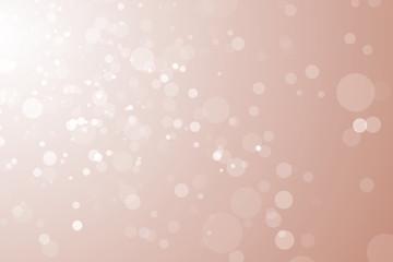 Minimal festive particles bokeh pink beige gradient  background