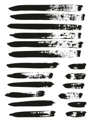 Calligraphy Paint Brush Lines Mix High Detail Abstract Vector Background Set 111
