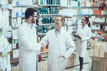Pharmacists working in pharmacy