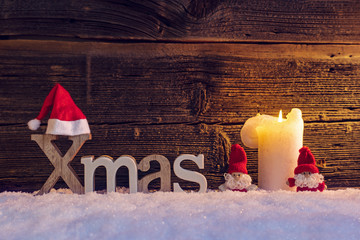 XMAS Banner with Candle
