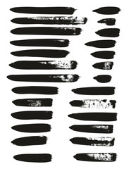 Calligraphy Paint Brush Lines Mix High Detail Abstract Vector Background Set 83