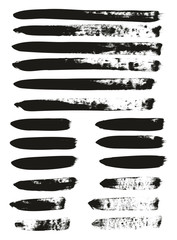 Calligraphy Paint Brush Lines Mix High Detail Abstract Vector Background Set 73