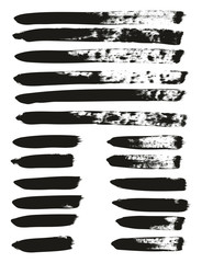Calligraphy Paint Brush Lines Mix High Detail Abstract Vector Background Set 72