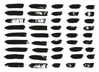 Calligraphy Paint Brush Lines Mix High Detail Abstract Vector Background Set 31