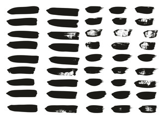 Calligraphy Paint Brush Lines Mix High Detail Abstract Vector Background Set 24
